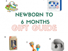 Newborn to 6 months Gift guide